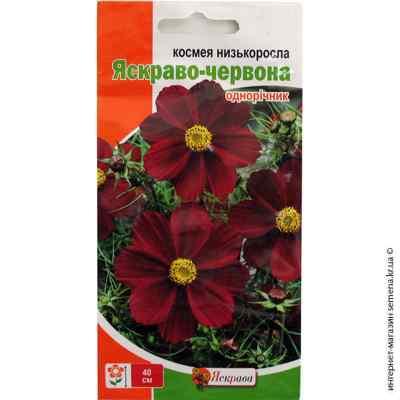 Семена космеи низкорослой Ярко-красная 0.15 г.