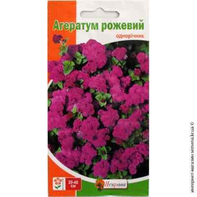 Семена Агератума розового 0.1 г.