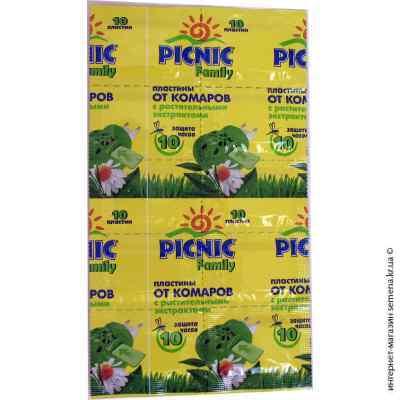 Пластины от комаров Picnic Family 10 шт.