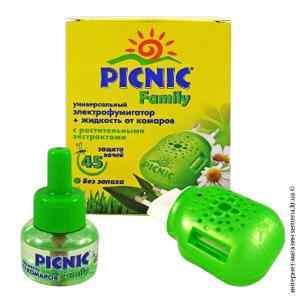 Набор Picnic Family 45 ночей фумигатор и жидкость