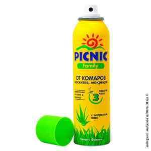 Аэрозоль от комаров Picnic Family 150 мл.