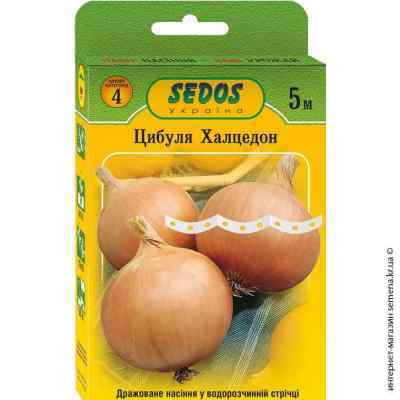Семена на ленте лук Халцедон 5 м.