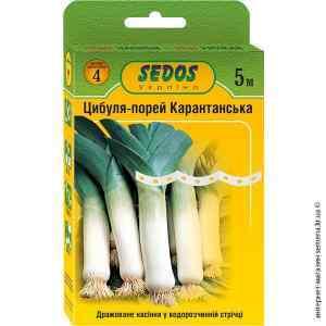 Семена на ленте лук-порей Карантанский 5 м.