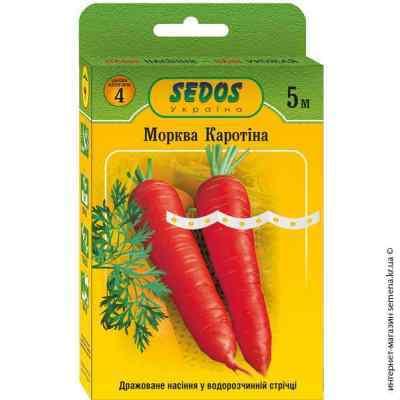 Семена на ленте морковь Каротина F1 5 м.