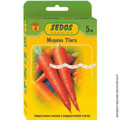 Семена моркови Тинга на ленте 5 м.