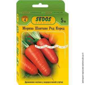 Семена на ленте морковь Шантане Ред Коред 5 м.