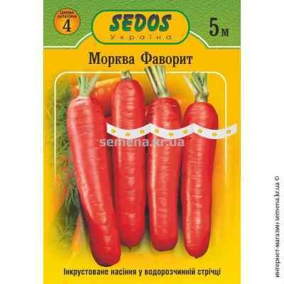 Семена моркови Фаворит на ленте 5 м.