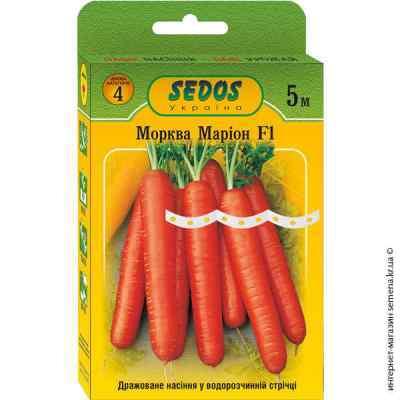 Семена на ленте морковь Марион F1 5 м.