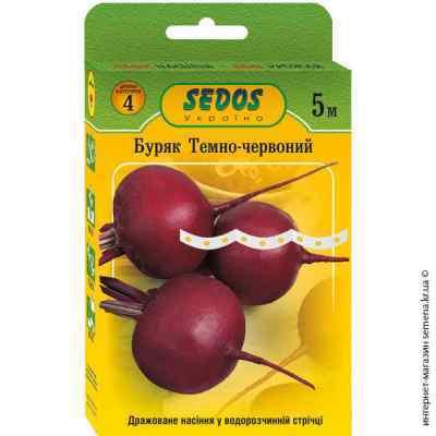 Семена свеклы Темно-красная на ленте 5 м.