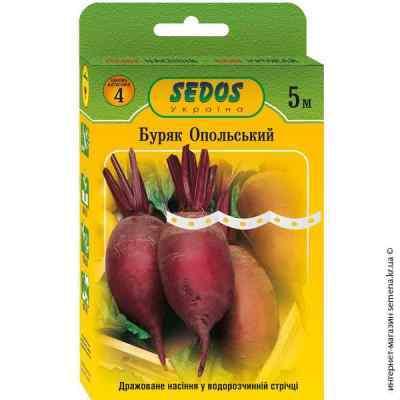 Семена свеклы Опольская на ленте 5 м.