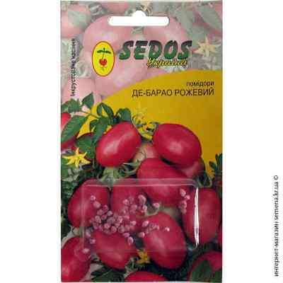 Инкрустированные семена томата Де-Барао розовый 0,2 г.