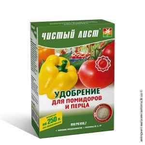 Удобрение для помидоров и перца «Чистый лист», 300 г.
