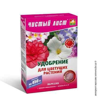 Удобрение для цветущих растений «Чистый лист», 300 г.