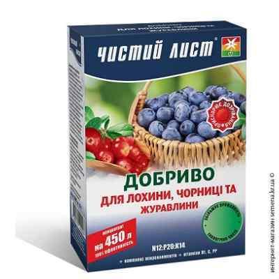 Удобрение для плодовых и ягодных кустарников «Чистый лист», 300 г.